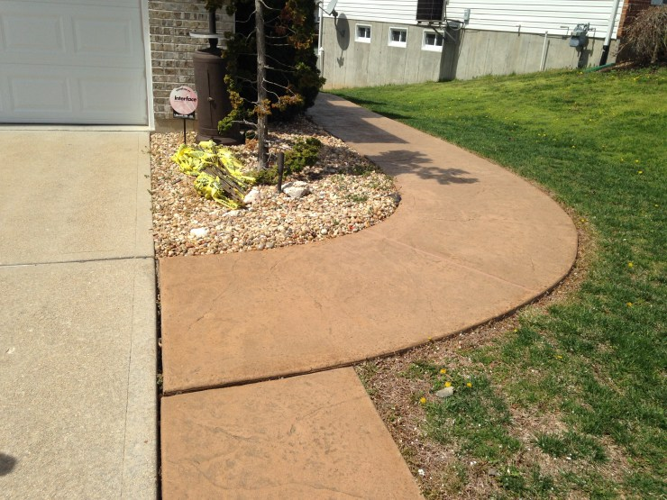 Brown Rounded Walkway