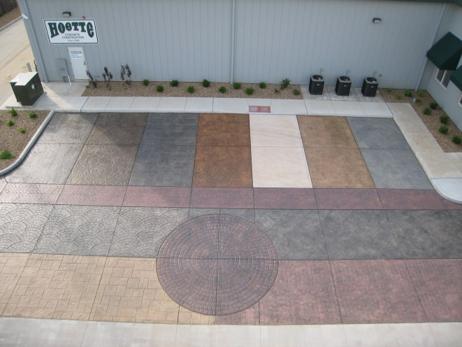 Decorative Colored Stamped Concrete