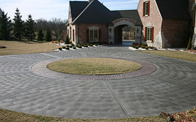 Rounded Concrete Driveway
