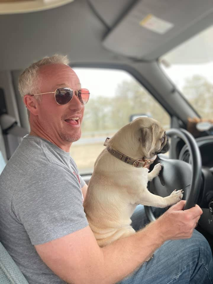 Buy an RV so the dog can drive.
