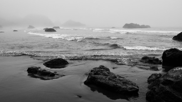 Harris Beach State Park is at the southern end of the coast near Brookings, Oregon.  Just north of Crescent City, California.
