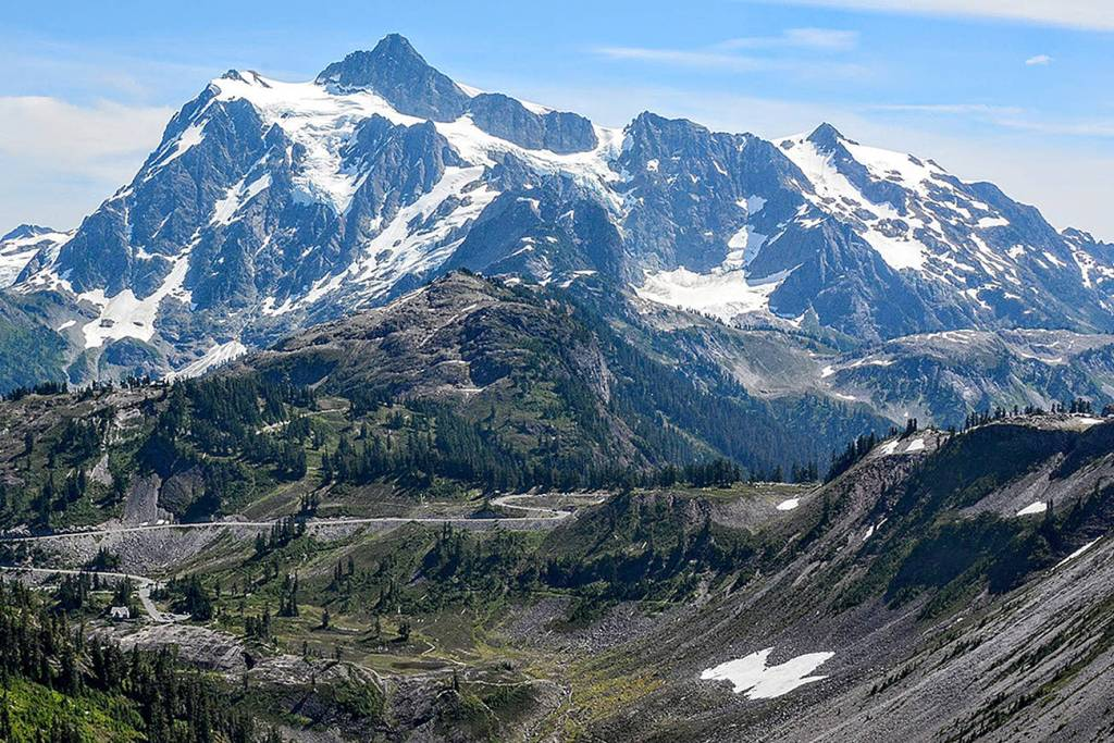 The North Cascades are a free National Park.  Dramatic mountain peaks and mint green lakes.  Excellent hiking in Washington State.