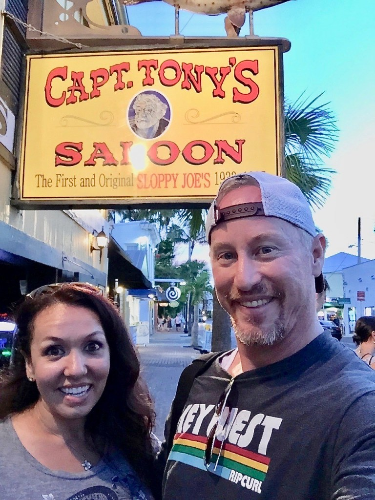 We went down to Captain Tony's to get out of the heat.  The Last Mango in Paris.  Famous Key West Saloon.