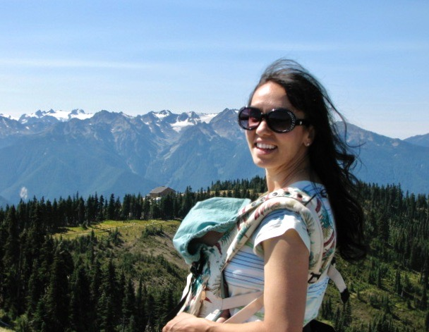 Olympic National Park is one of the top things to do in Washington State.  Monica poses on Hurricane Ridge.
