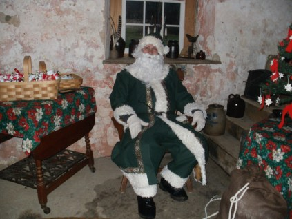 Father Christmas in the Summer Kitchen