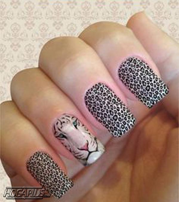 Cheetah design nail art design Ideas