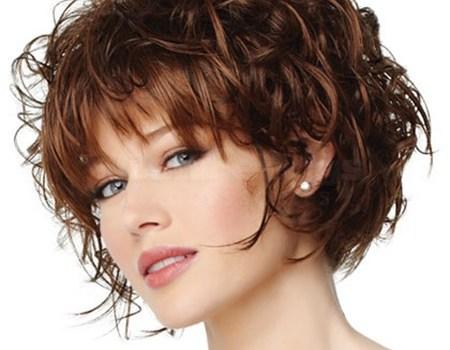 Curly Short bob hairstyle and haircut