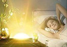 iluminación y brillo del despertador solar
