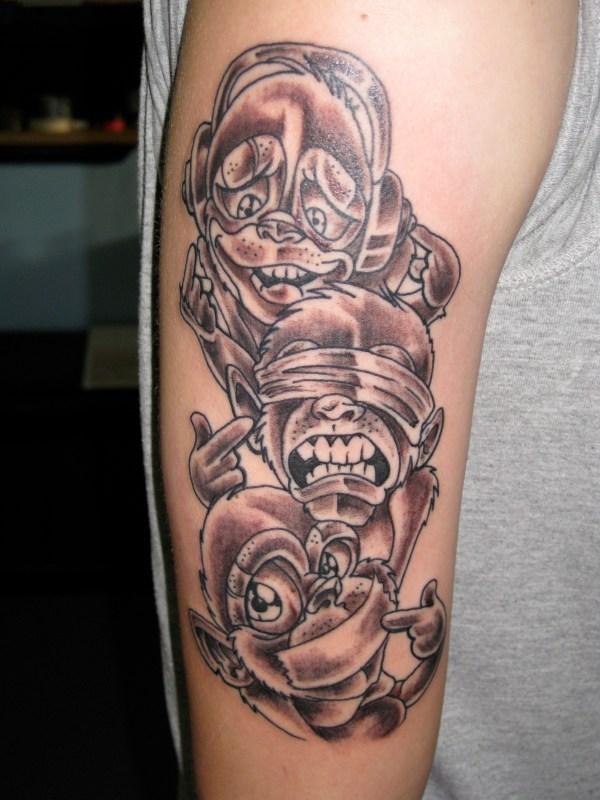 20 See No Evil Hear No Evil Speak No Evil Monkey Tattoo Pictures