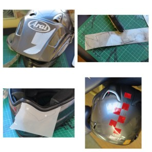 helmet reflective tape scotchlite motorcycle motor bike forum safety hi vis diy 9