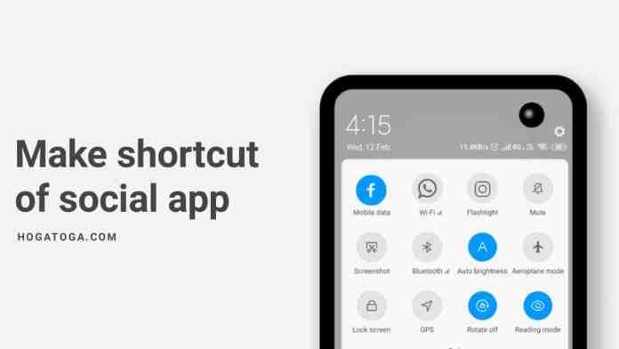 Add app in Notification Shade
