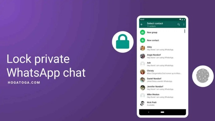 Lock private whatsapp chat