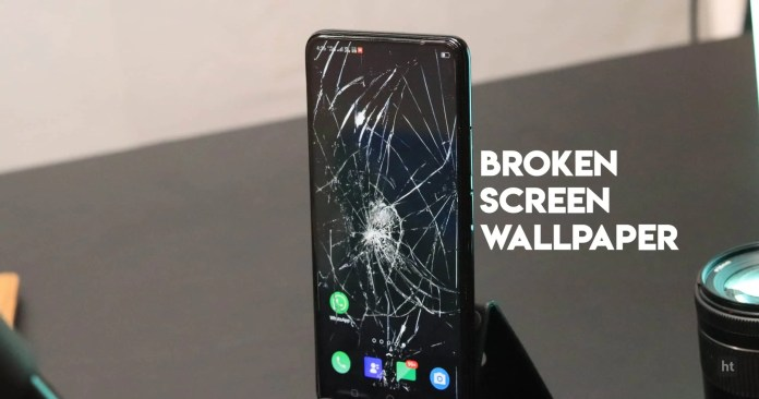 Add the broken screen background wallpaper