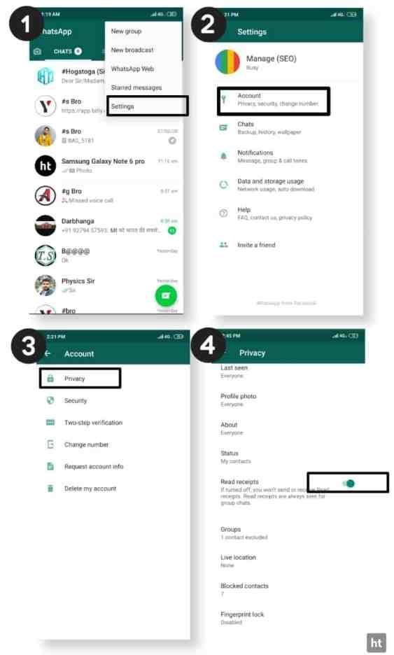 Whatsapp blue tick feature