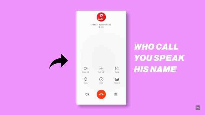 announce caller name