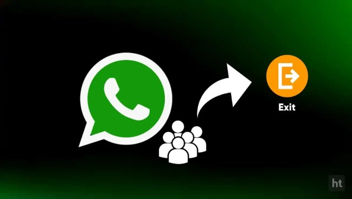 exit and delete whatsapp group