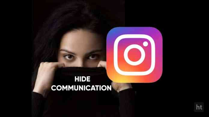 How to hide instagram conversation