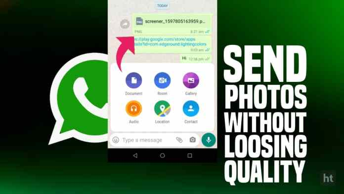 Send Uncompressed Images on WhatsApp