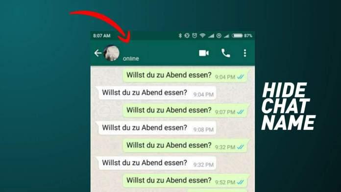 Hide chat name app