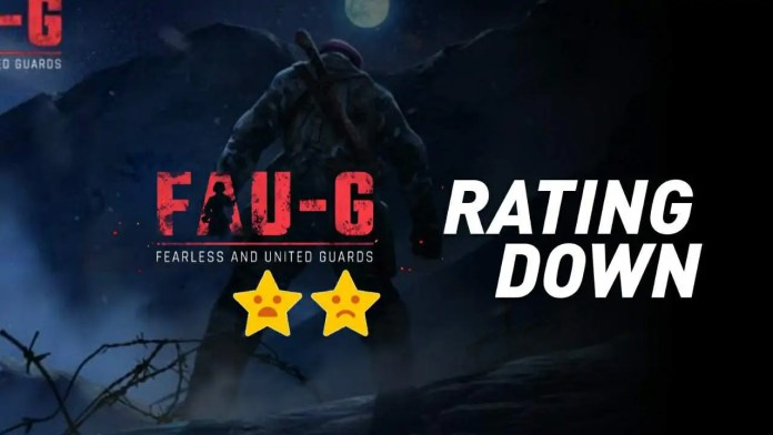 FAU-G game rating falling down