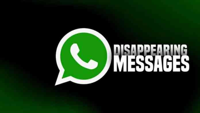 WhatsApp new testing for disappearing messages