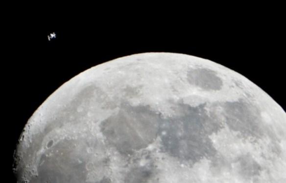ISS&Moon