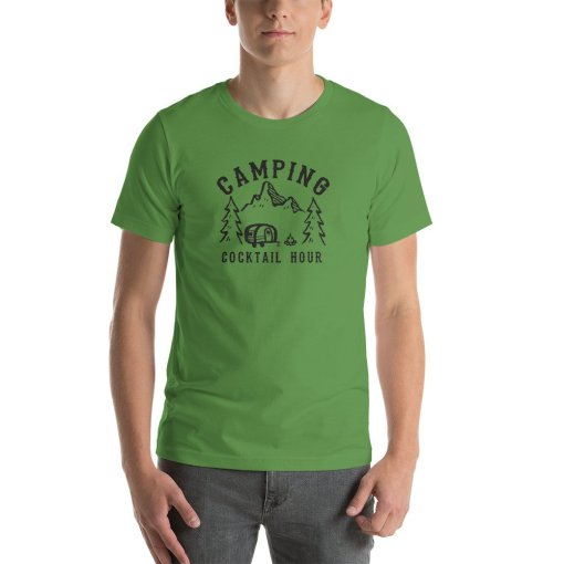Camping Cocktail Hour mockup Front Mens Leaf