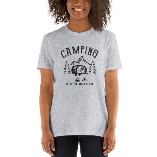 Camping is better with a dog 2a mockup Front Womens 2 Sport Grey
