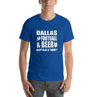 Dallas football mockup Front Mens True Royal