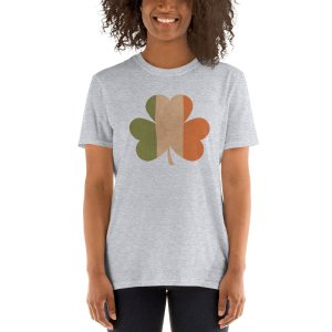 Irish Flag Clover mockup Front Womens 2 Sport Grey