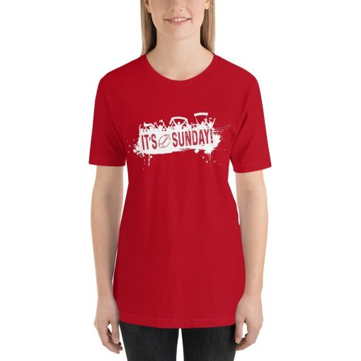 Its Sunday w mockup Front Womens Red