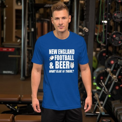 New England football mockup Front Mens Lifestyle True Royal