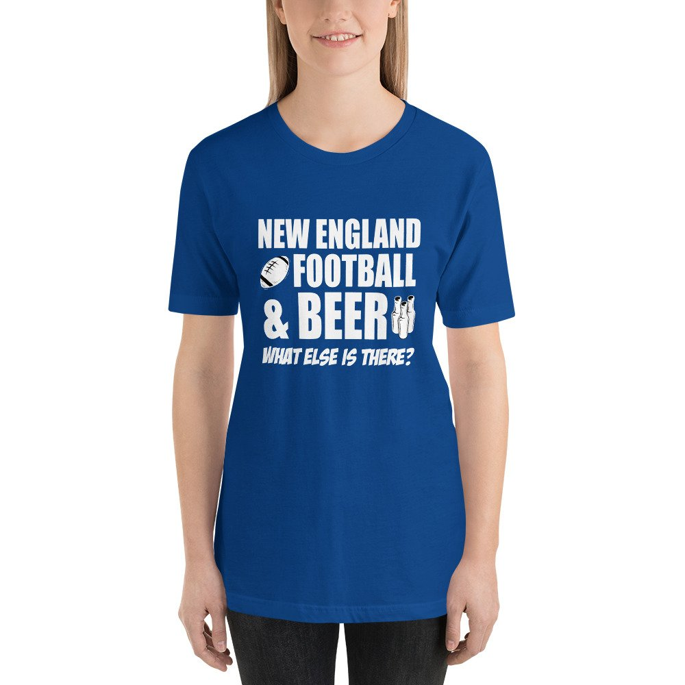 New England Football and Beer Short-Sleeve Unisex T-Shirt for all ... aa5adb1eef