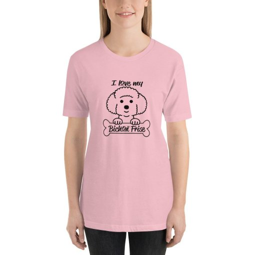 bichon frise mockup Front Womens Pink