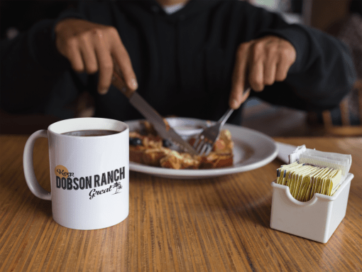 coffee mug mockup at breakfast a11947