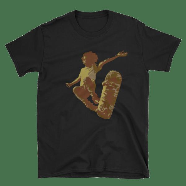 Flying Skateboarder Short-Sleeve Unisex T-Shirt