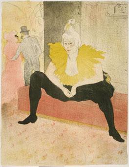 Henri de Toulouse-Lautrec, La clownesse assise