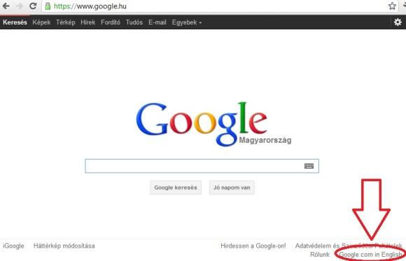 Google.com-ról Google.hu-ra váltani és fordítva – Hogyankell.hu