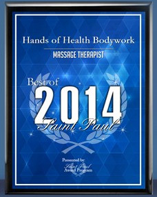 2014 St. Paul Award Best Massage Therapist