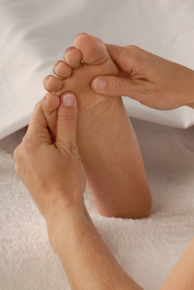 Reflexology with a foot massage is incredibly relaxing