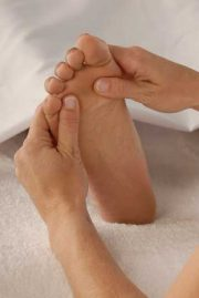 Reflexology (a foot massage) is incredibly relaxing