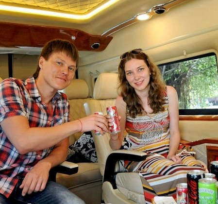 Limousine Dcar Ford Transit Transfer Danang airport to Sheraton Grand Danang