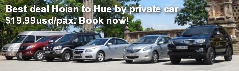 Transfer service Hoian to Hue