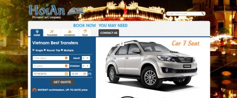 Hoian Private Car Company homepage