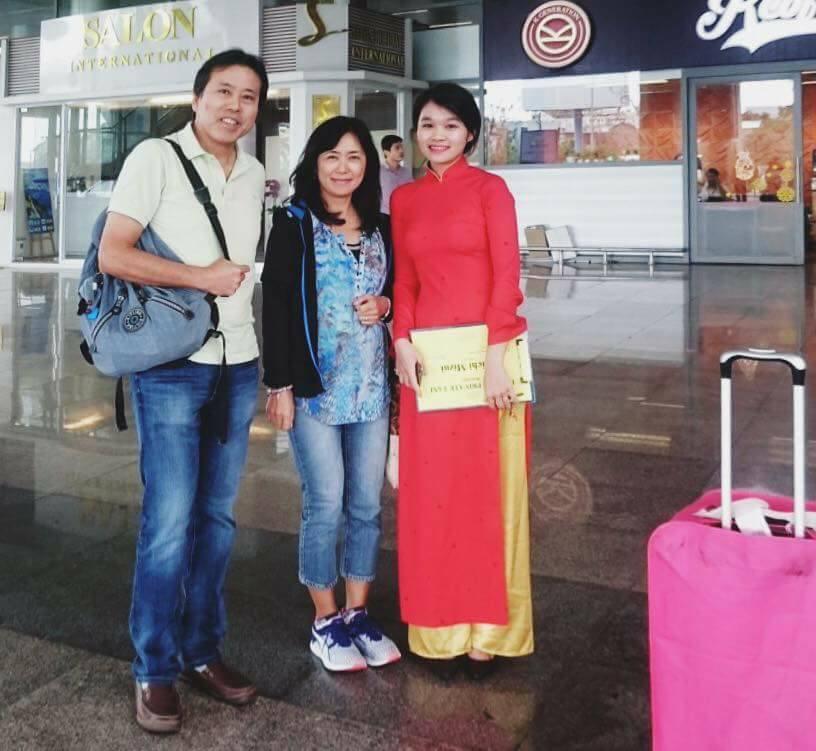 Welcome travelers at Danang airport