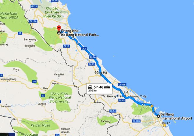 Da Nang Airport to Phong Nha by private car- Hoi An Private Car