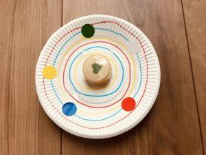 紙皿でこま