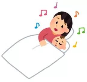 保育士の子守唄で寝かせつけ