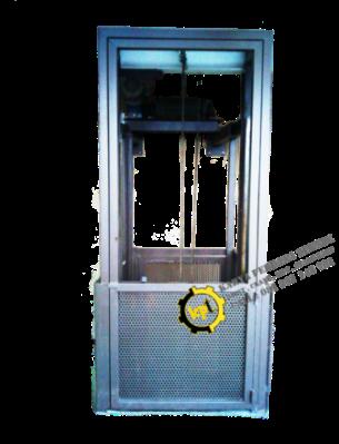 Bengkel Pambuatan Cargo Lift elevatror dengan Mesin katrol sling