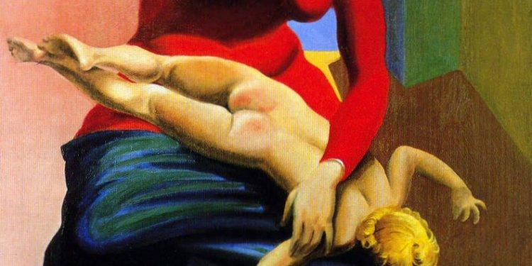 """Max Ernst - """"Virgem espacando o Menino"""""""